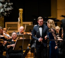 New Year's concert with Slovenian Philharmonic Orchestra and Philipp von Steinaecker; Photo by Simon Pelko